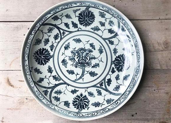 Celadon Peony Plate
