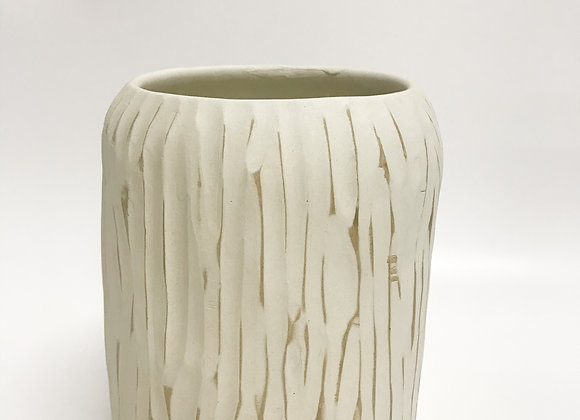 White Bark Tree Pot