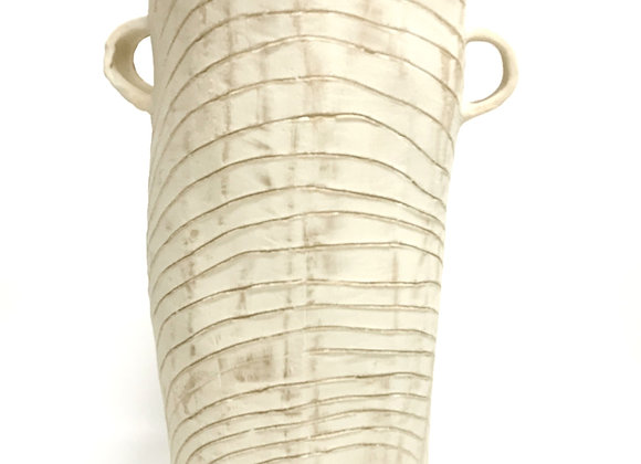 White Bark Tree Tall Vase