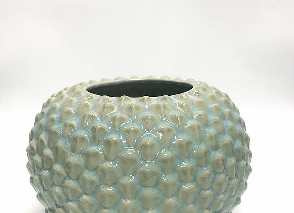 Celadon Petal Vase Short
