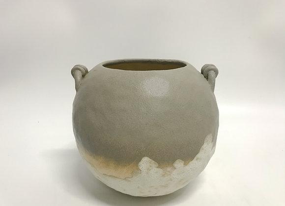 Grey Gold Rustic Pot