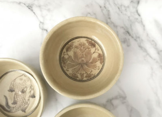 Yellow peony sharing bowl