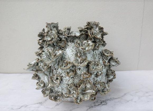 White Gray Coral Vase