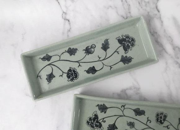 Celadon Floral Tray