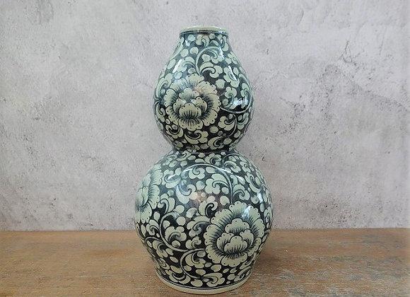 Peony Celadon Vase