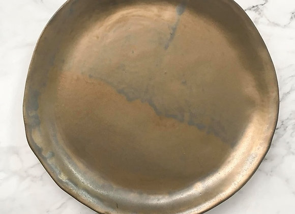 Rustic Gold Dinner Plate