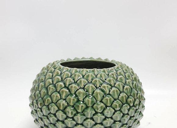 Petal Green Vase Short