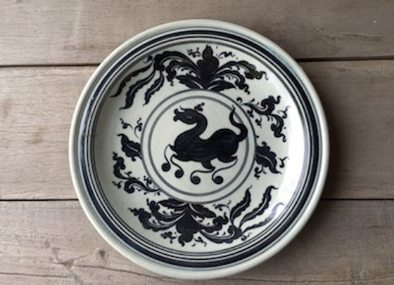 Celadon Lanna Horse Plate