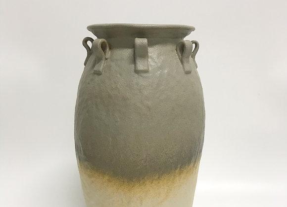 Grey Gold Rustic Vase