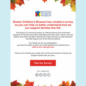Boston Children's Museum Survey Email