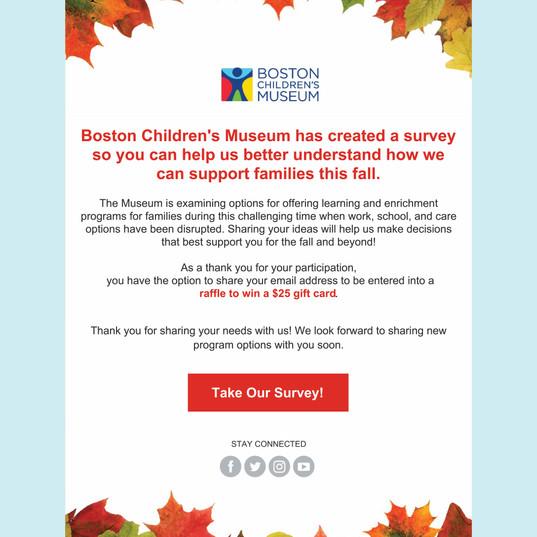 Boston Children's Museum Survey Email