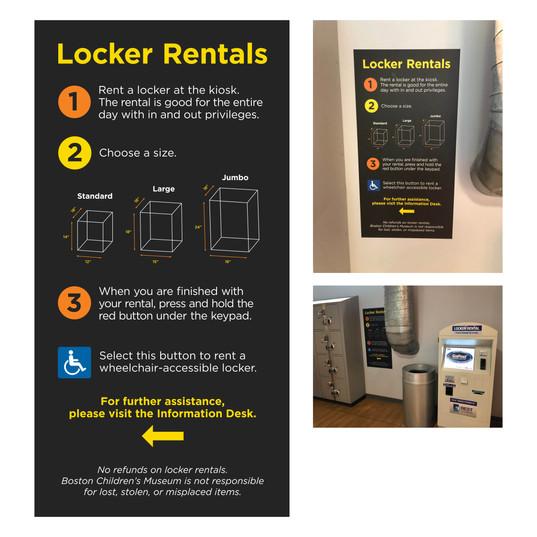 Locker Rental Sign