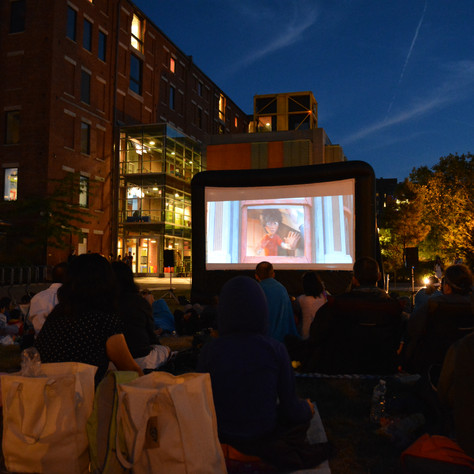 Outdoor Movie in the City