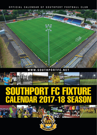 FOOTBALL CALENDAR FOR SOUTHPORT FC - YOUR CLUB COULD HAVE ONE TOO!