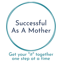 successful as a mother logo with slogan.
