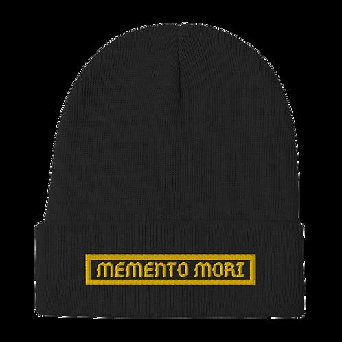 Memento Mori Black Beanie