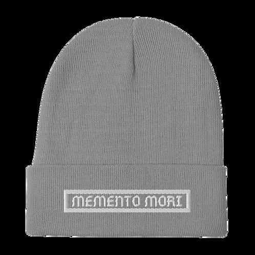 Memento Mori Grey Beanie
