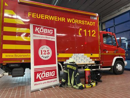 +++ Feuerwehr Wörrstadt erhält Maskenspende +++