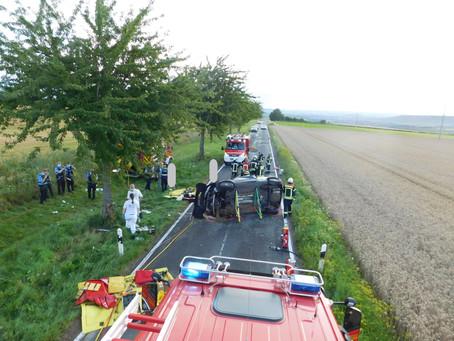 +++ Schwerer Unfall bei Wörrstadt +++
