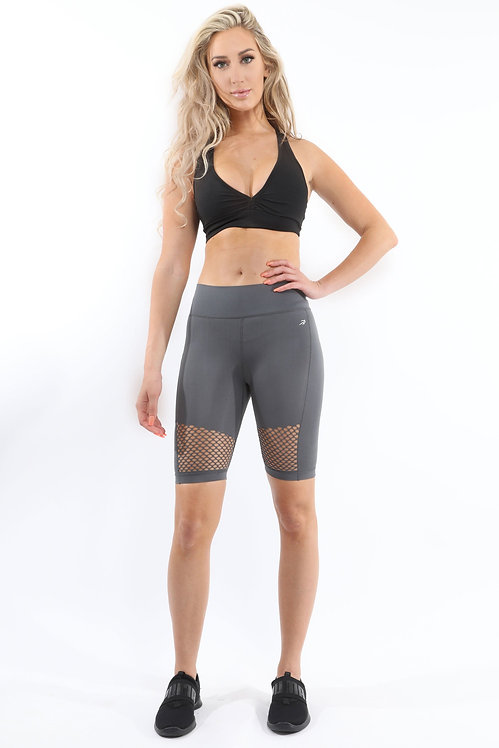 Malibu Seamless Activewear Shorts - Grey