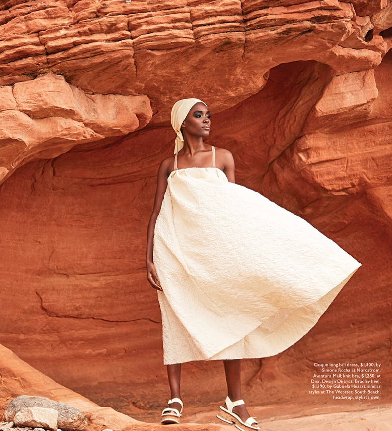 FRANCINE JAMES MODELS THE NEW NEUTRALS FOR MODERN LUXURY