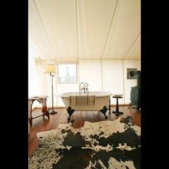 Canvas Cabin bedroom tub