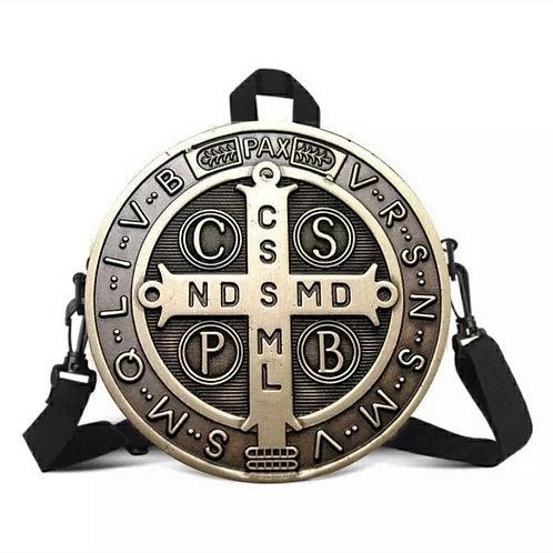 Medalla de San Benito crossbody