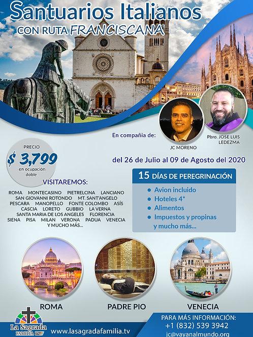 Santuarios Italianos y Ruta Franciscana