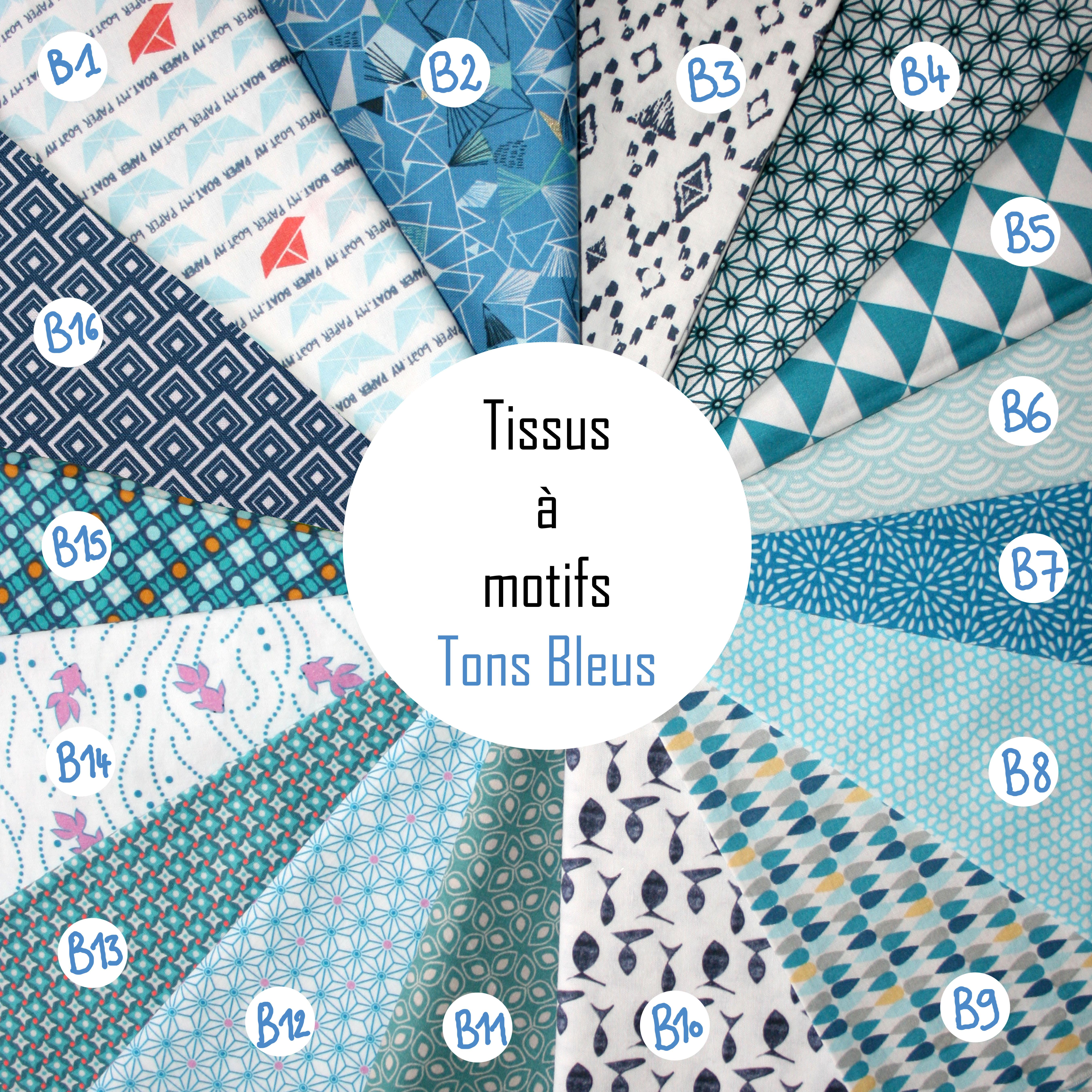 Motifs Tons Bleus