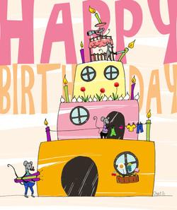 Carte anniversaire souris