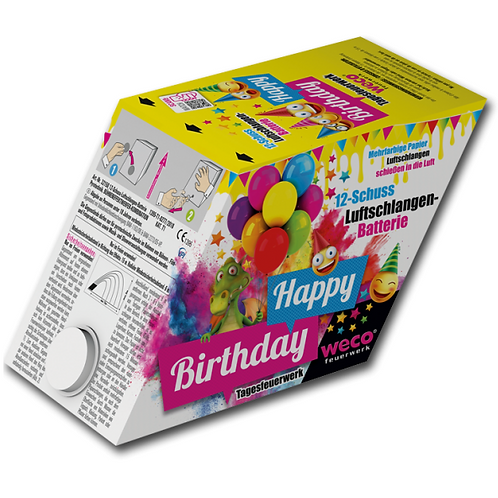 Luftschlangen Batterie Geburtstag