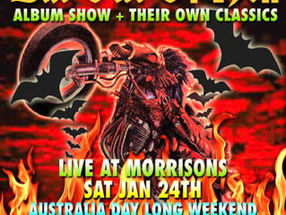 STARFISH TO ROCK Morrisons Winery SAT 24 JANUARY