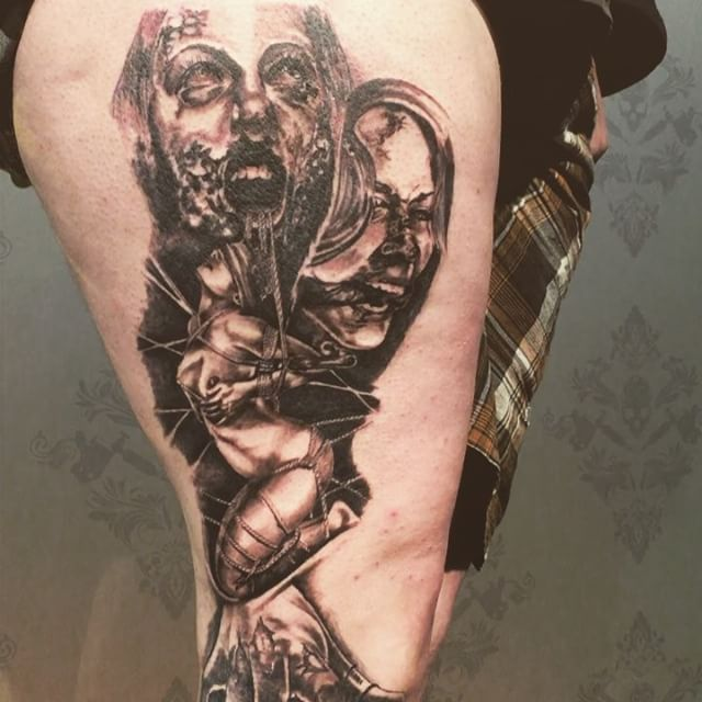 Today's piece complete on regan thanks bro, you sat like a machine