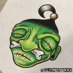 Voodoo head design by _hmactattoos looking for a home!
