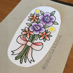 Bouquet design by Hannah _hmactattoos up for grabs