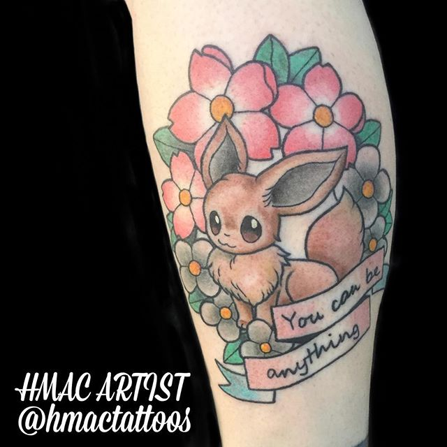 Super cute Eevee by Hannah _hmactattoos