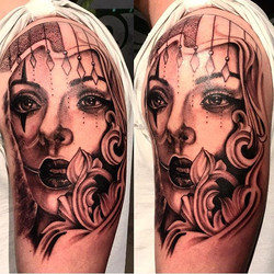 Today's piece complete full sleeve in progress by _juniorsilivaaitattoos _skindeeptattoogallery _uso