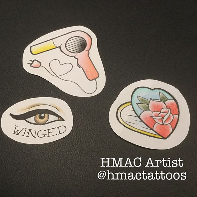 A couple of new flash pieces by _hmactattoos _She's available tomorrow! ❤️