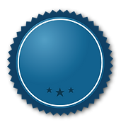 Blue ribbon with stars