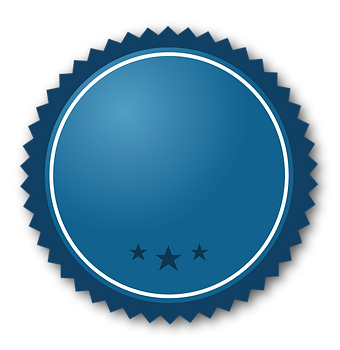 Cinta azul con estrellas