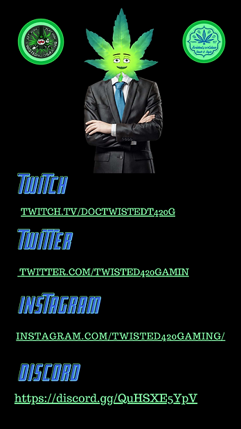 DocTwistedT420G Social Media Card - Where to find DocTwistedT420G on Twitch, Twitter, Instagram