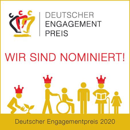 Schlüssel zur Gesellschaft e.V. für Deutschen Engagementpreis 2020 nominiert