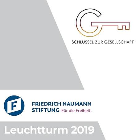 Leuchtturm 2019 für Schlüssel zur Gesellschaft e.V.