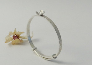 Silver Baby Bangle made to order