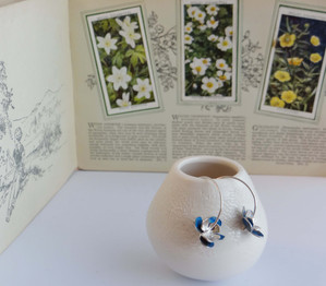 Silver & Aluminium Flower Hoop Earrings £30