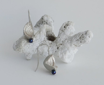 Silver Shell & Pearl Earrings £75