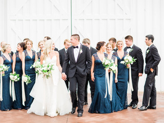 Summer Wedding in a White Barn