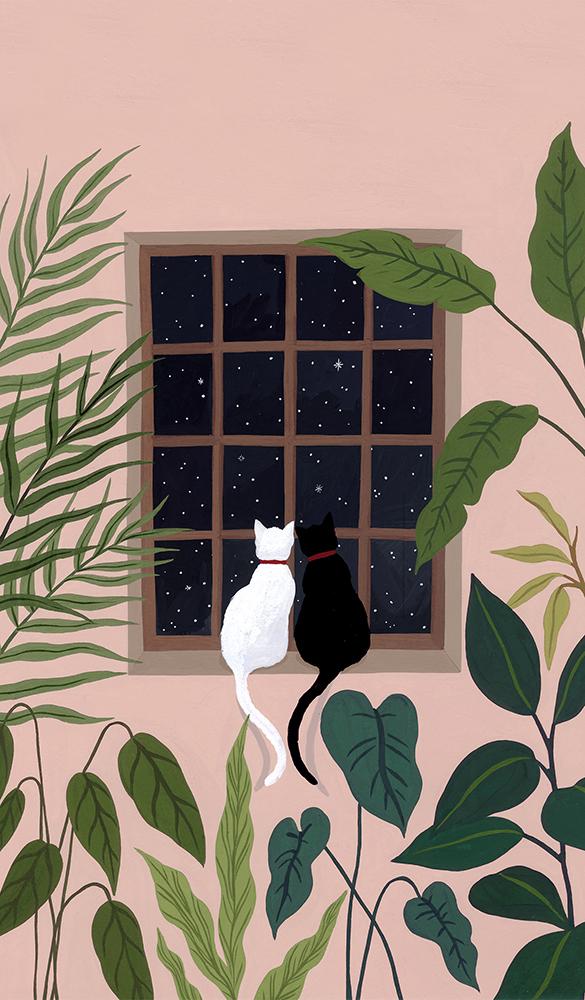 '고양이는 내게 나답게 살라고 말했다' 내지 일러스트 / 한국경제신문