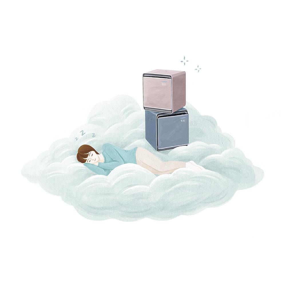 우리집 맑음 가전 소셜 콘텐츠 일러스트 /삼성전자