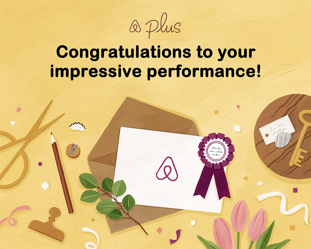 에어비앤비 Plus Quality Performance 일러스트 / airbnb